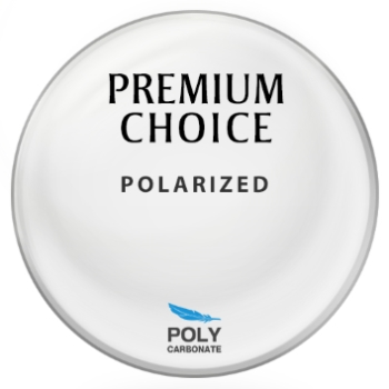 Premium Choice Polarized - Green-Grey - Polycarbonate Plano Lenses
